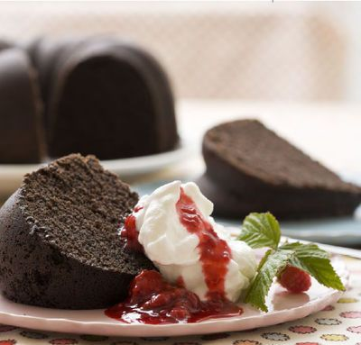dark chocolate butter cake