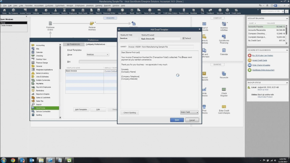 Customize Email Templates In Quickbooks Youtube How To Edit An Regarding How To Edit Quickbooks Inv Invoice Template Email Templates Professional Templates