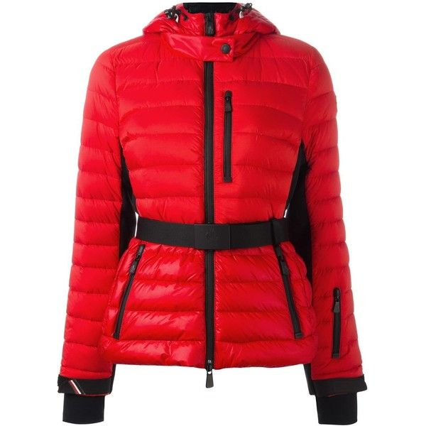 Moncler Grenoble Padded Hood- Red Feather jacket