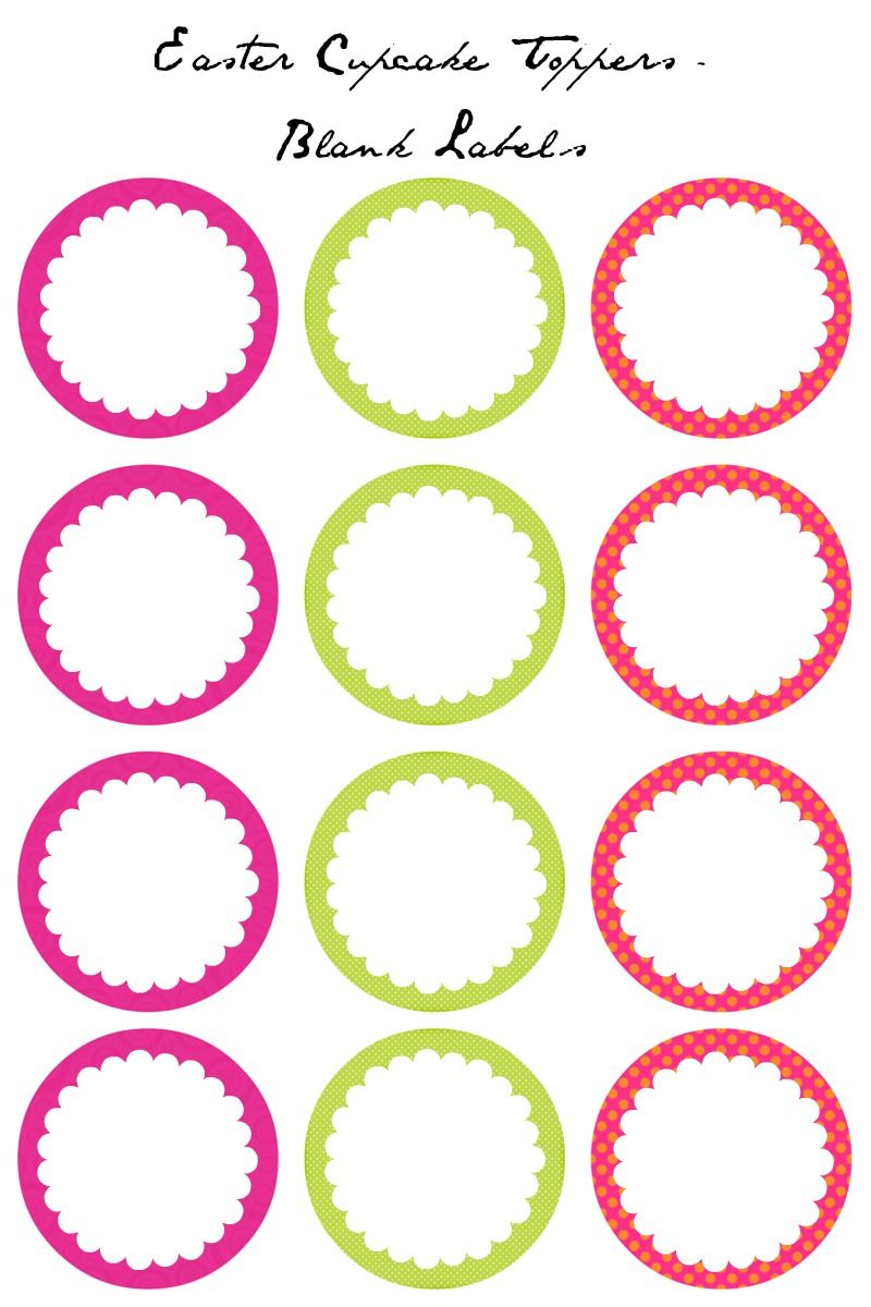 Easter cupcake toppers free printables cupcake toppers