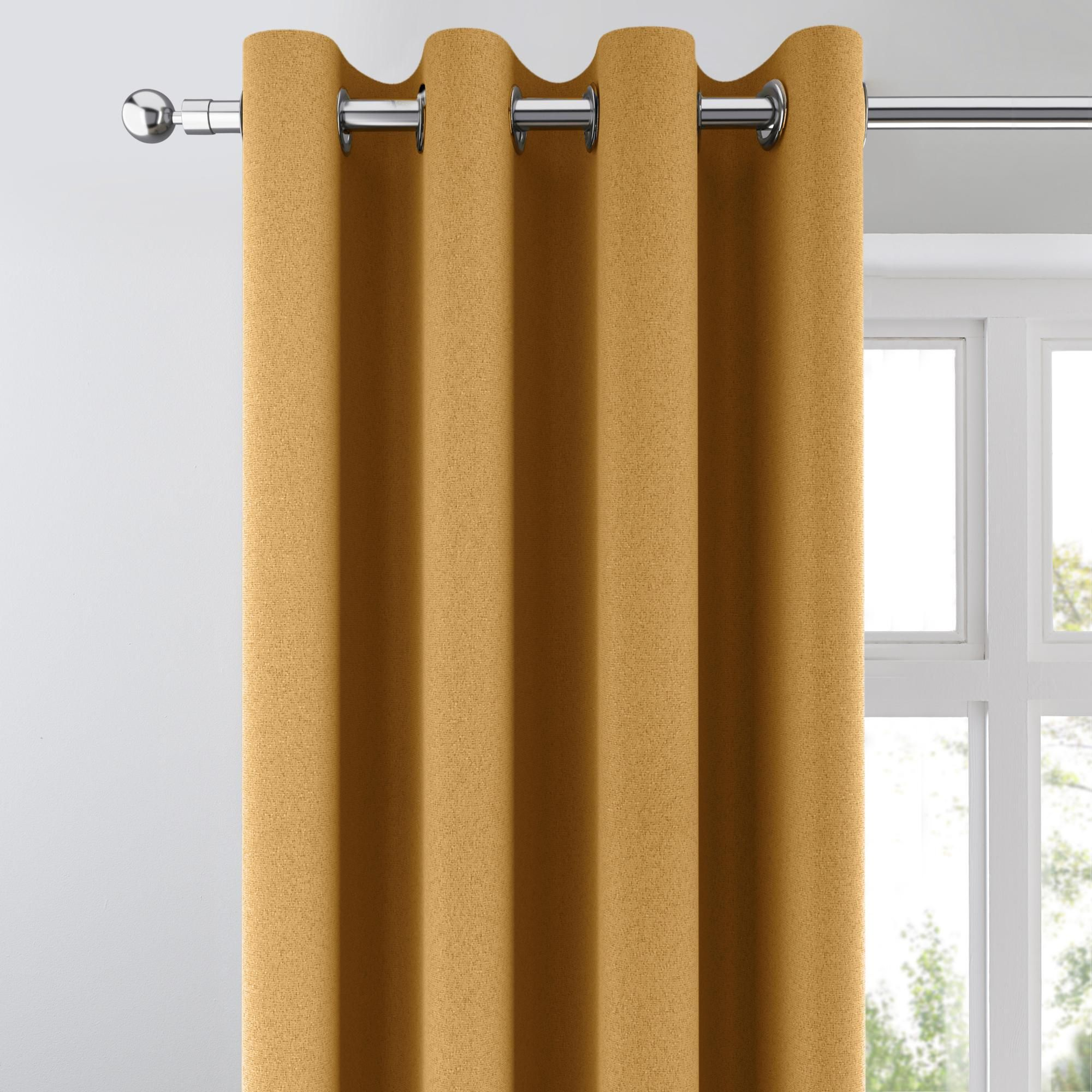 Chicago Old Gold Jacquard Blackout Eyelet Curtains In 2020