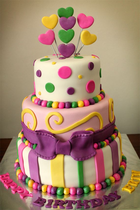 This cake is Adorable. Would be perfect for baby J's 3rd b-day