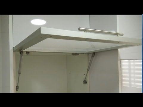 Como poner un amortiguador de gas en las puertas de cocina - Puerta abatible cocina ...