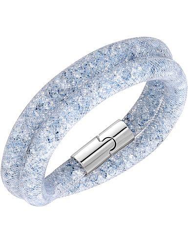 Swarovski Stardust Double Dark Grey Medium Bracelet