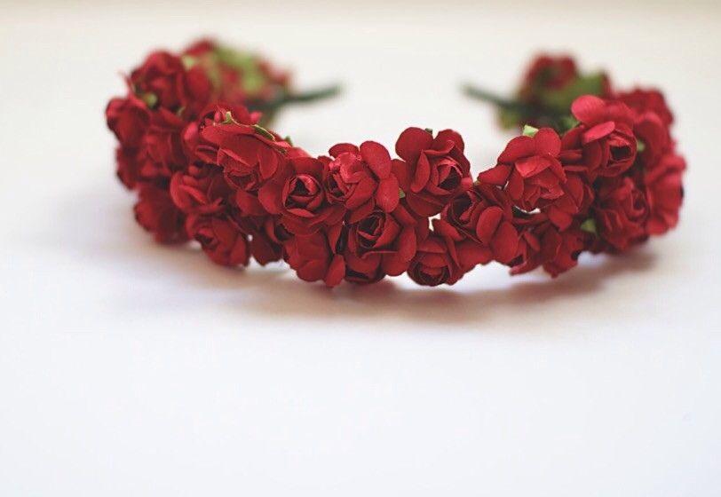 Tiara de Mini Rosas Vermelha  e1ec4993c5c