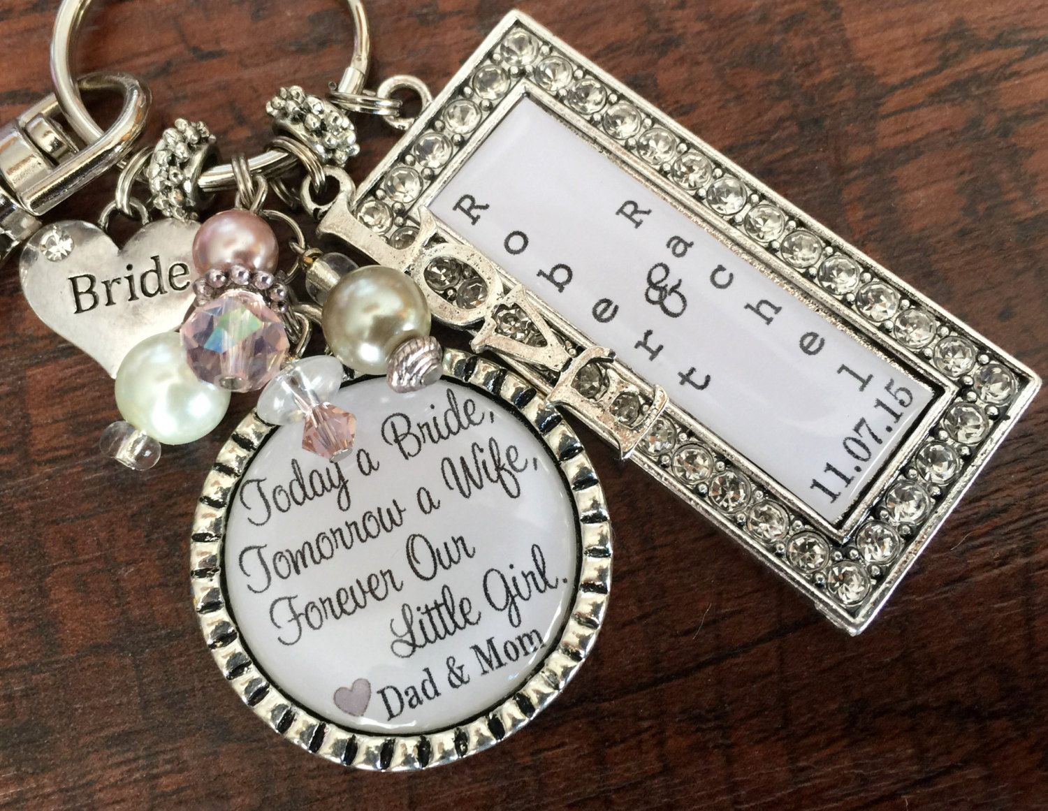 Wedding Gift For BRIDE Bridal Bouquet Charm Ideas Bride From Mom Forever Our Little Girl Daughter In Law