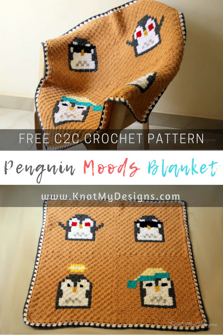 Free Corner to Corner / C2C Crochet Pattern - Home Decor