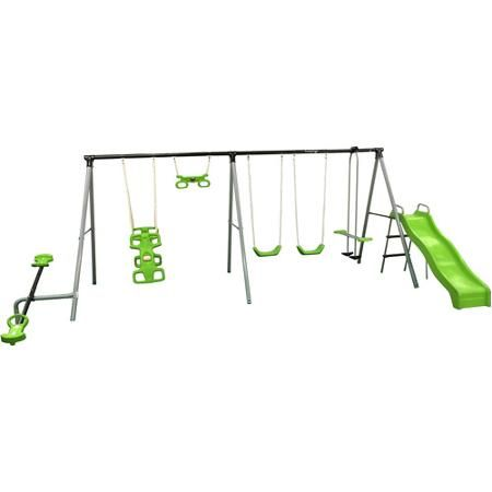 Flexible Flyer World Of Fun Metal Swing Set Walmart Com