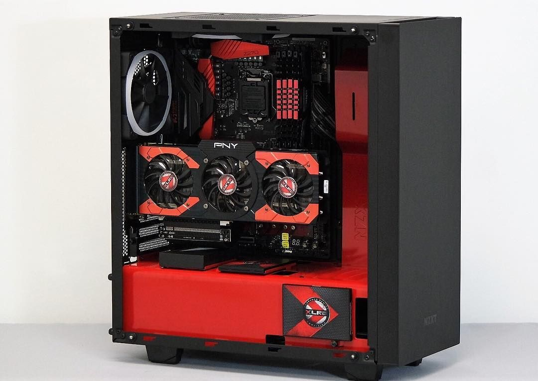 Nzxt Check Out This Incredible Nzxt S340 Elite Build In Progress By Nxtgenpc From Xlr8gam1ng Nzxtbuilds Teamnzxt Rigs Gaming Pcs Cool Tech Office Setup