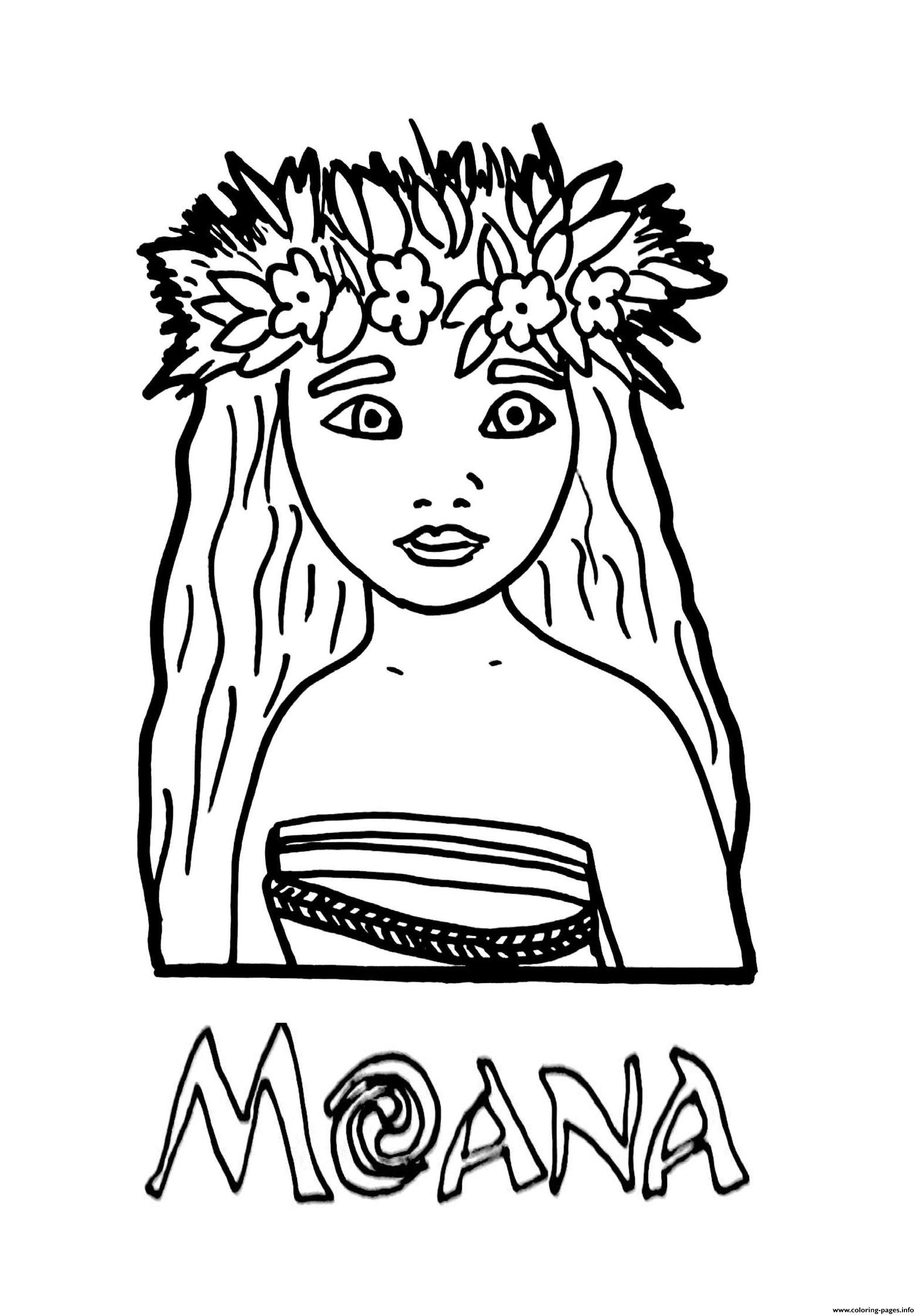 Moana Princess Coloring Pages Printable And Book To Print For Free Find More Online Kids Adults Of