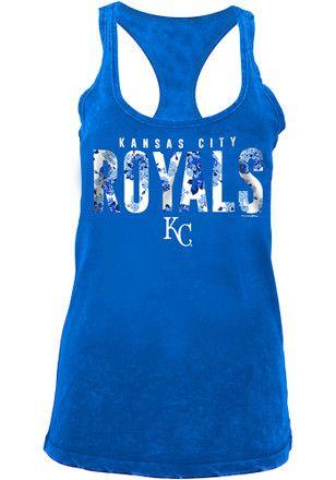 huge discount e8751 6af22 Kansas City Royals Womens Blue Washed Tank Top | MLB ...