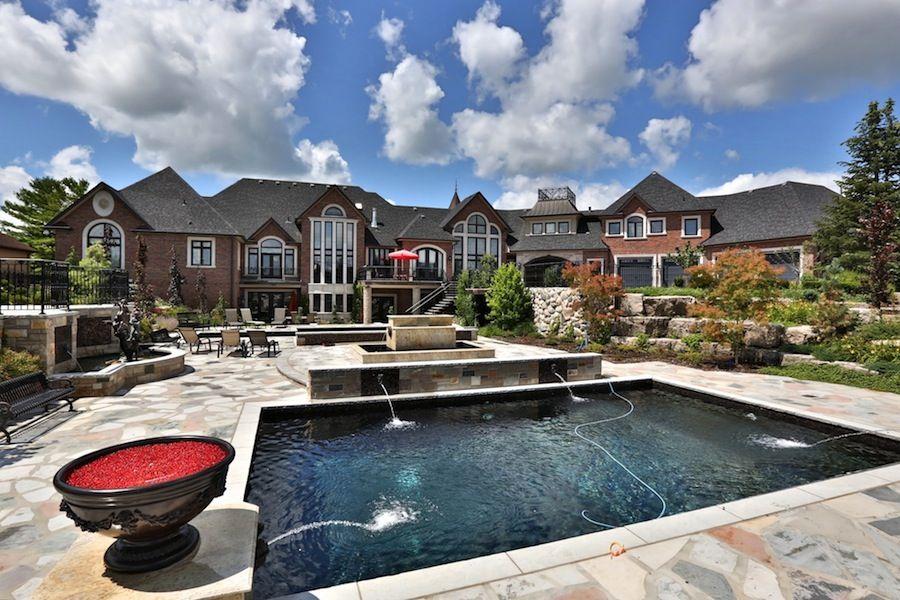 Palatial Vaughan Estate 4 750 000 Custom Built Homes Pool Houses Luxury Homes