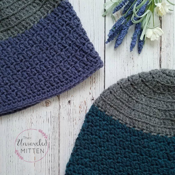 Rapids Beanie Free Crochet Pattern - Adult Sizes #menscrochetedhats
