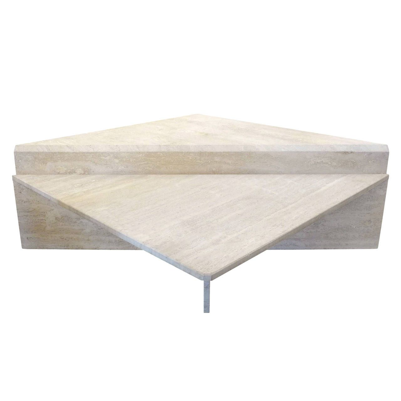 Two piece modular travertine coffee table travertine coffee and two piece modular travertine coffee table geotapseo Image collections