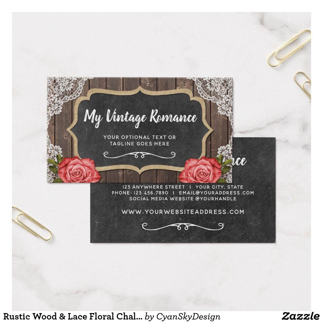 Rustic wood lace floral chalkboard country chic business card rustic wood lace floral chalkboard country chic business card small business etsy shop reheart Image collections