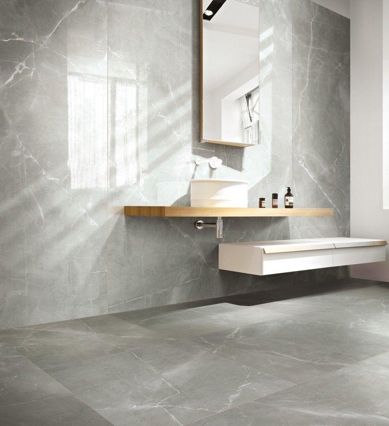 Du carrelage effet marbre gris pour une salle de bains chic Idées