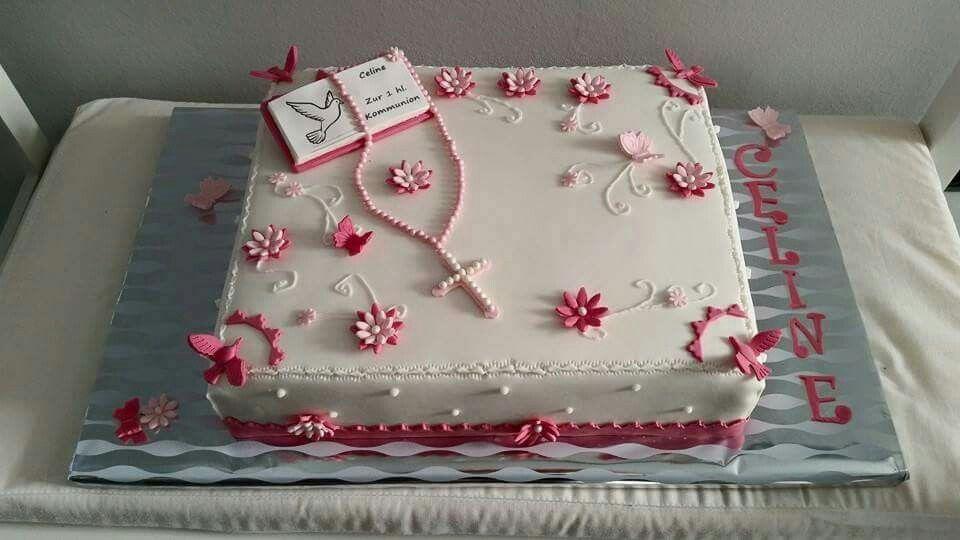 Kommunions Torte  Cake in 2019  Kommunionkuchen Torte
