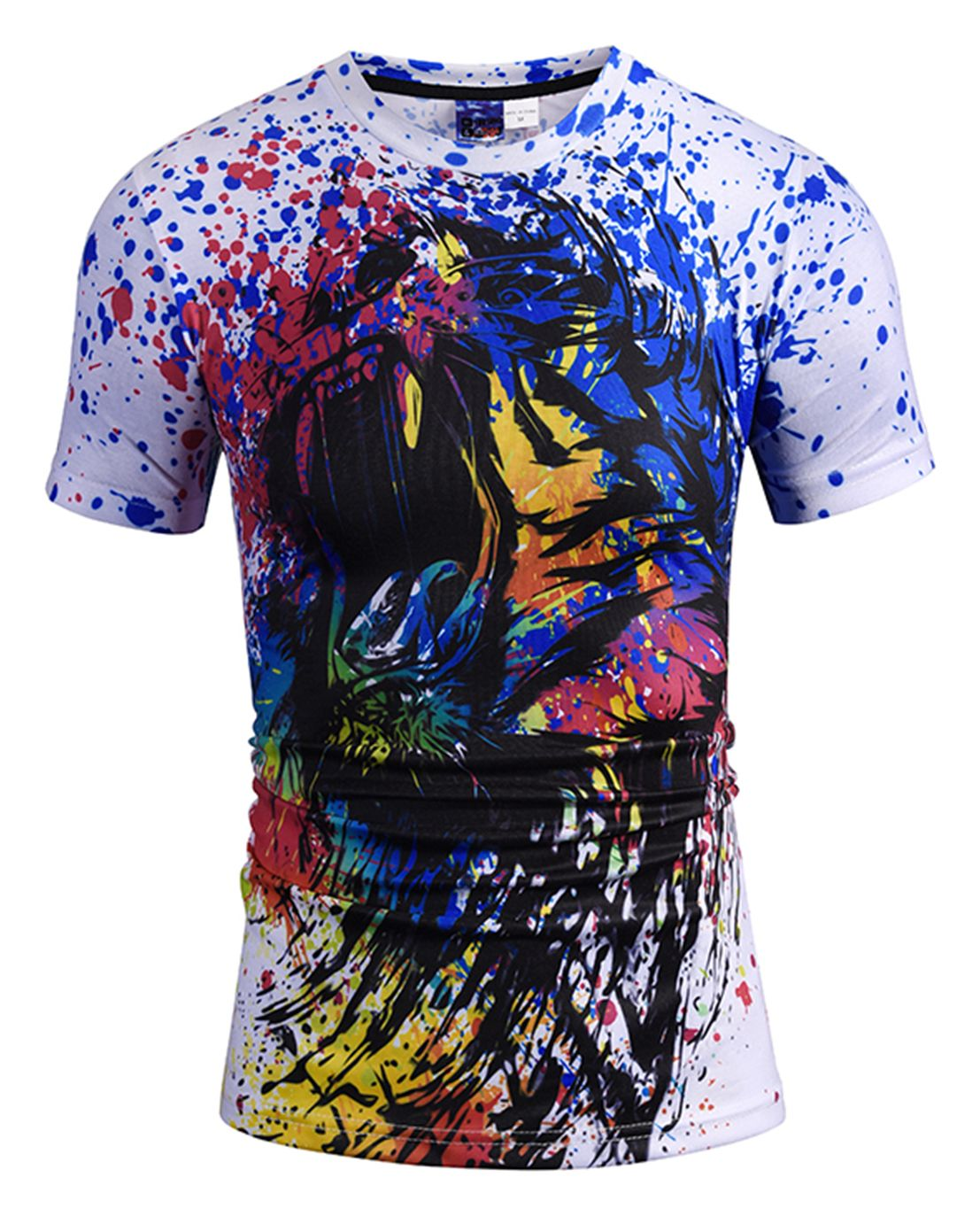 Pizoff Unisex 3d Digital Printing T Shirts Y1625 N1 Pizoff Unisex 3d