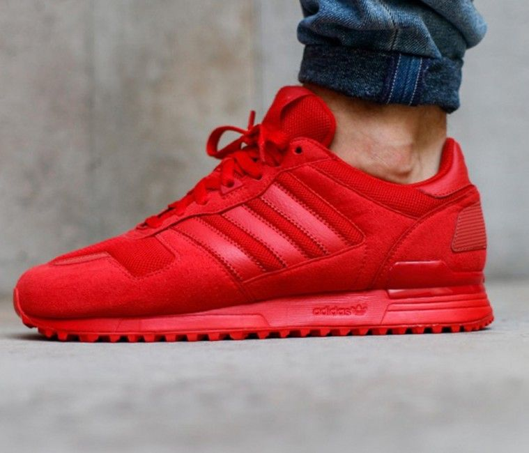 The adidas ZX 700 Triple Red is part of adidas Originals February 2016  lineup that comes dressed in all-Red. This Red adidas ZX 700 will release  this