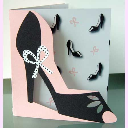 Paper high heel shoe template high heeled shoe card and for High heel template for cards