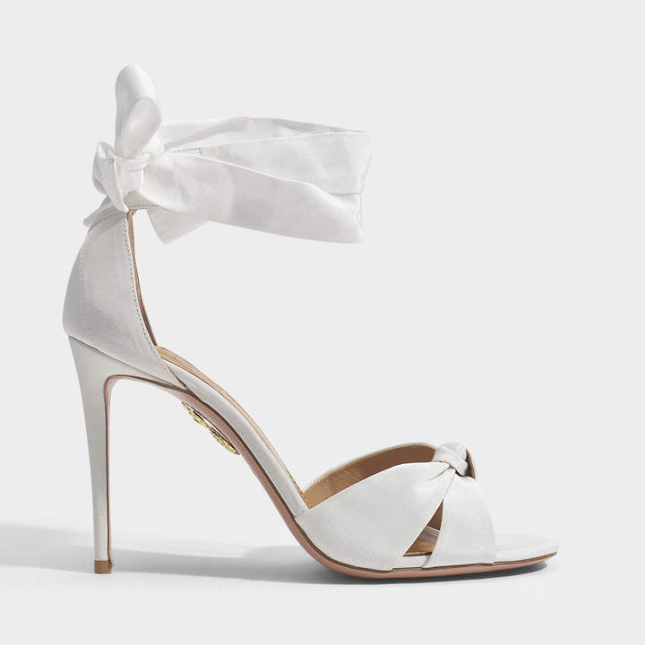 All Tied Up 105 Sandals in White Gros Grain Aquazzura bAgs2X1NC