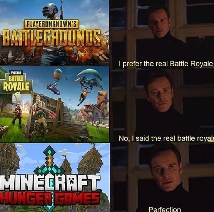 I prefer the real battle royale | Video games funny ...