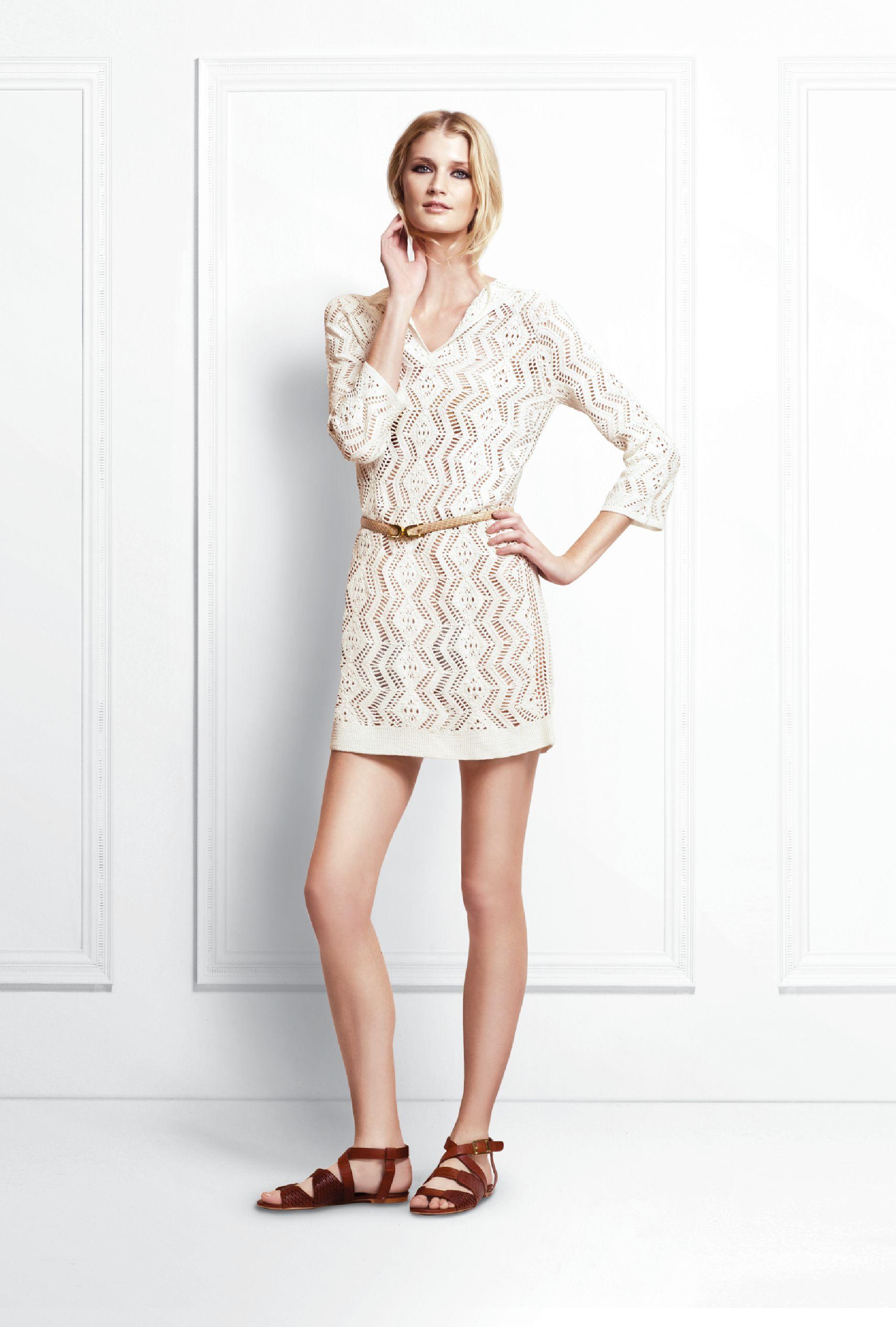 Sloane Crochet Dress.  Ginger Sandal.