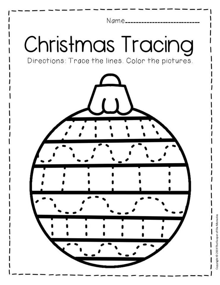 Free Printable Tracing Christmas Preschool Worksheets Preschool Worksheets,  Preschool Christmas, Christmas Worksheets