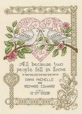 All Because Cross Stitch Pattern Wedding Cross Stitch Patterns