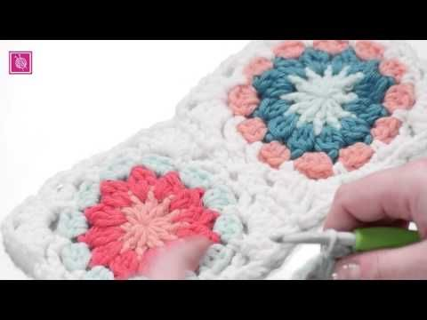 Granny Square Met Rond Hart Haken Youtube Crochet And Knitting