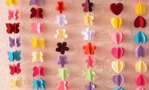 Hasil Gambar Untuk Cara Menghias Kamar Dengan Kertas Origami Origami Hiasan Kertas Origami