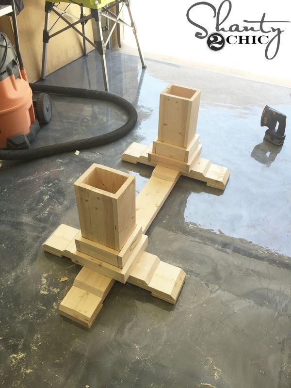 Diy Pedestal Coffee Table Couchtisch Diy Selbstgemachte Tische