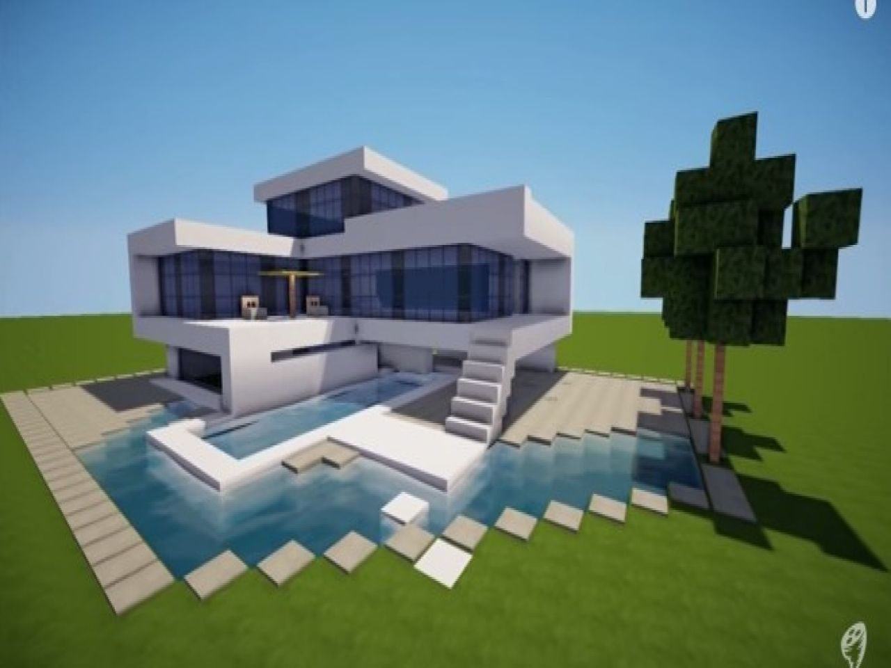 How to build a modern house in minecraft beanonaboard
