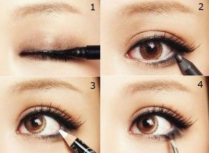 Tight lining with white eyeliner