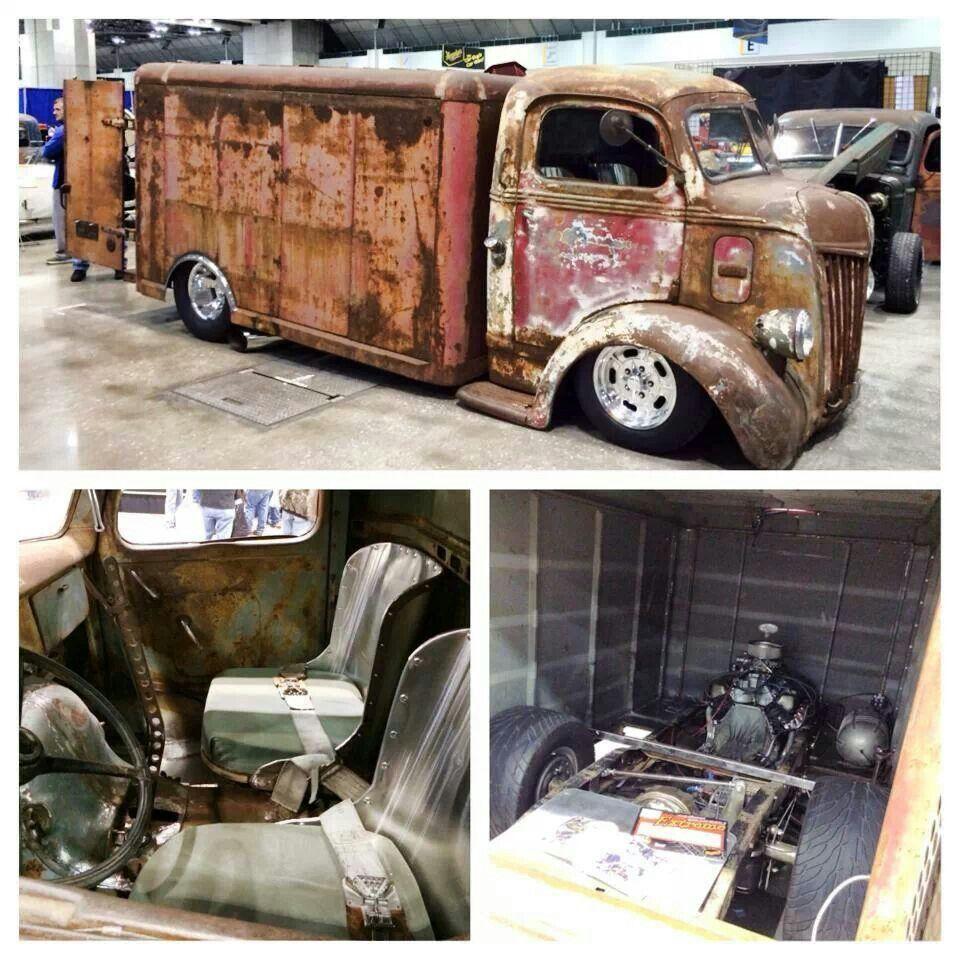 1941 Or42 Ford Shop Truck Re 40s Beveragehauler Blue Oval 38 Coe