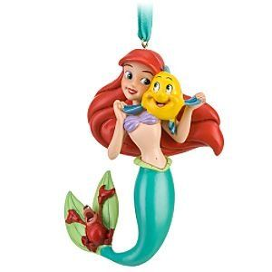 disney princess ariel little mermaid christmas ornament with underwater friends - Little Mermaid Christmas Ornaments