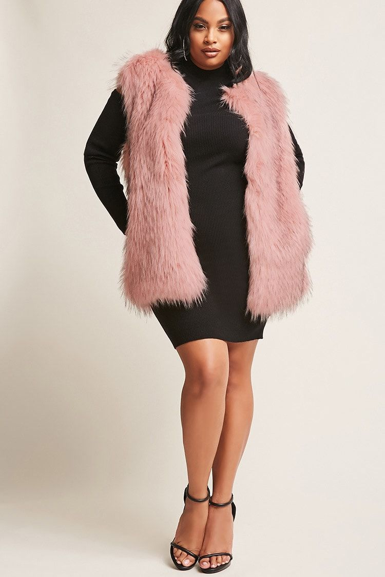 8c2cac0c0f Product Name:Plus Size SHACI Faux Fur Vest, Category:CLEARANCE_ZERO,  Price:88