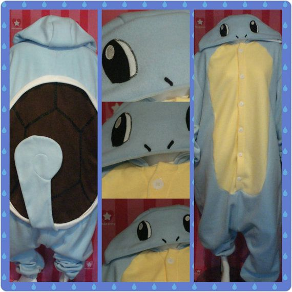 Squirtle Inspired Kigurumi/Squirtle Pokemon Inspired Onesie/Squirtle ...
