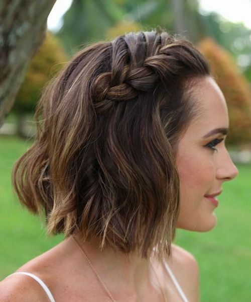 Super Gorgeous Chin Length Wedding Hairstyles 2017 Braids On