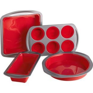 Buy Living Silicone And Tin 4 Piece Bakeware Set At Argos Co Uk