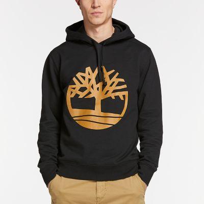 0a1fc09037d1 Timberland Men s Classic Tree Logo Hoodie Black Wheat