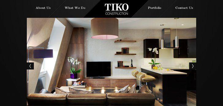 TIKO Construction website has a Great Web Design | Best Web Designs
