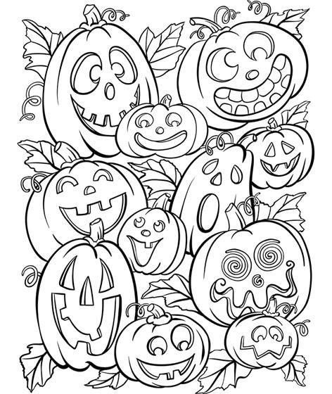 Jack O Lanterns Coloring Page Crayola Com Halloween Coloring Pages Halloween Coloring Sheets Halloween Coloring