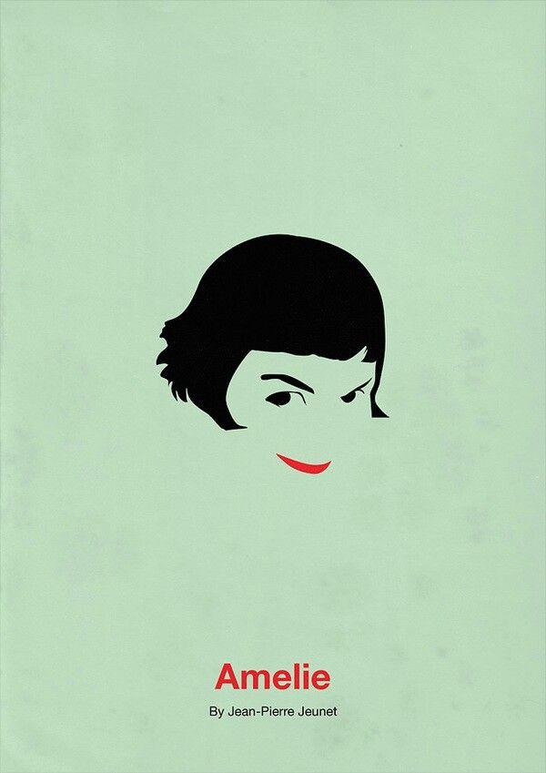 Amelie minimalist movie poster.