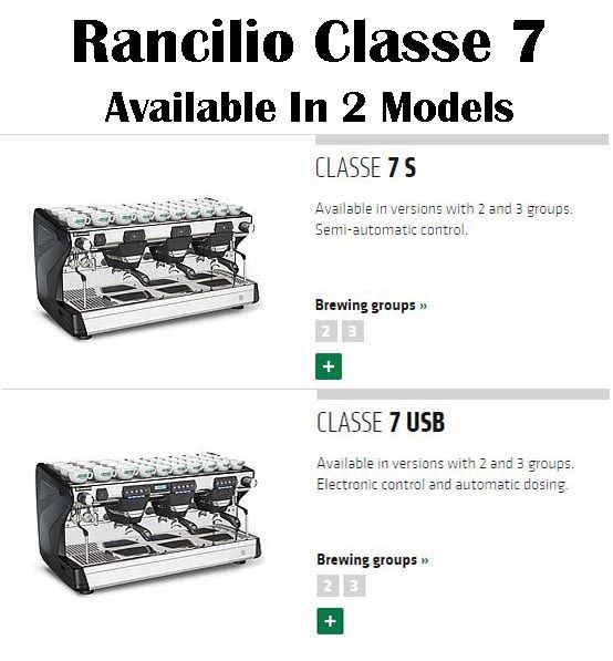Rancilio Classe 7: Two Models Available