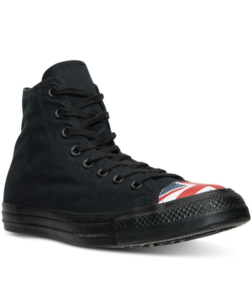 4354093ccdd8 Converse Men s Chuck Taylor All Star Hi Flag Toe Cap Casual Sneakers from  Finish Line