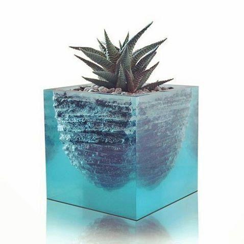 Vase Flower Vase Flower Pot Sculpture Resin Vase Hand Made Vase