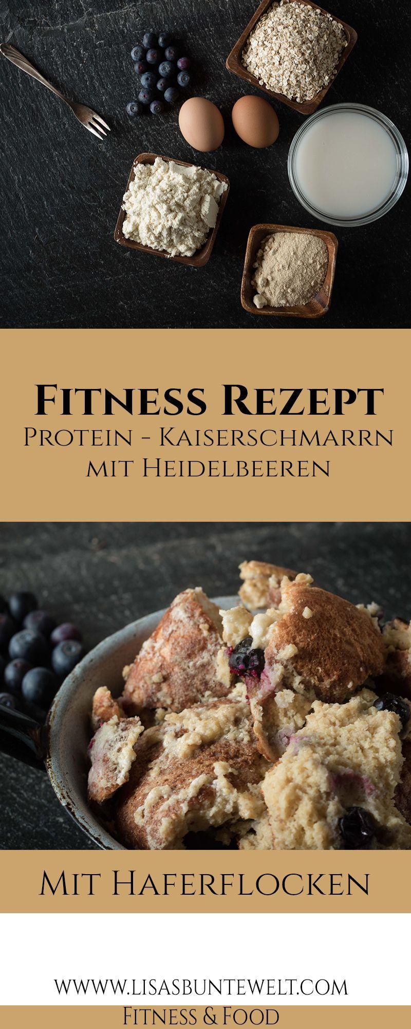 Fitness Rezept - Gesunder Protein-Kaiserschmarrn mit Heidelbeeren #protiendiet