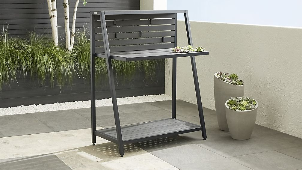 Alfresco Ii Grey Work Station Outdoor Living Outside Storage