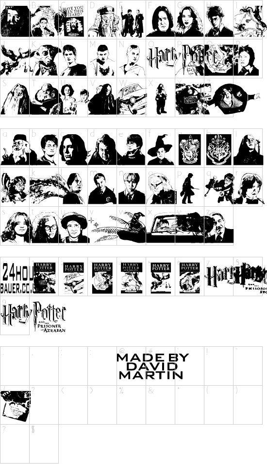 Harry Potter And The Dingbats Schriftart Font Download Kostenlos Fonts Potter Dingbats
